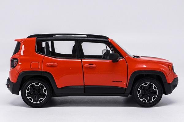 โมเดลรถเหล็ก โมเดลรถยนต์ Jeep Renegade Trailhawk red 3