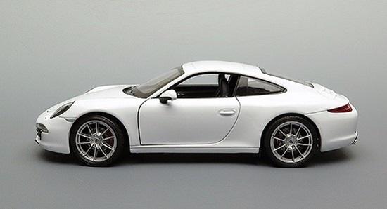 โมเดลรถ โมเดลรถยนต์ โมเดลรถเหล็ก porsche 911 carrera s white 3