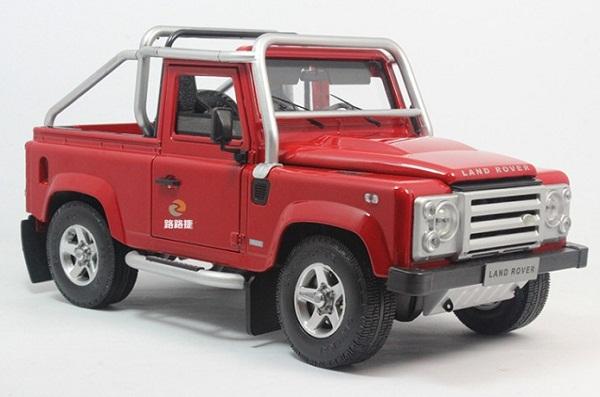 โมเดลรถ โมเดลรถเหล็ก โมเดลรถยนต์ Land Rover Defender SVX red 1