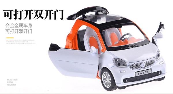 โมเดลรถเหล็ก โมเดลรถยนต์ Benz Smart 6