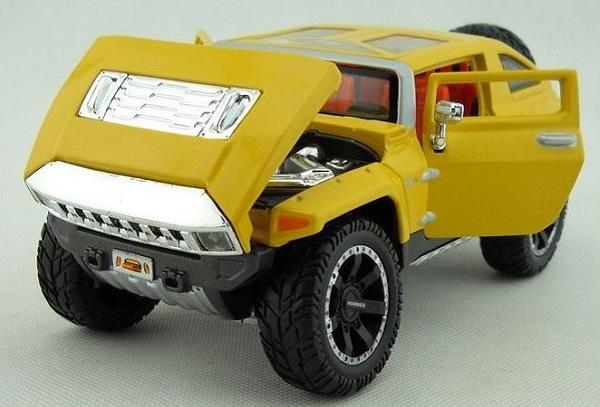 โมเดลรถยนต์ โมเดลรถเหล็ก 2008 Hummer HX 4
