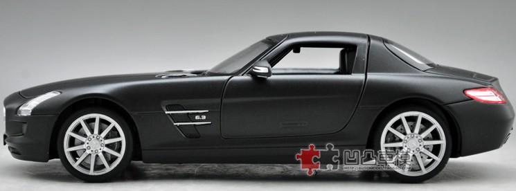 โมเดลรถ โมเดลรถยนต์ โมเดลรถเหล็ก sls amg matte black 5