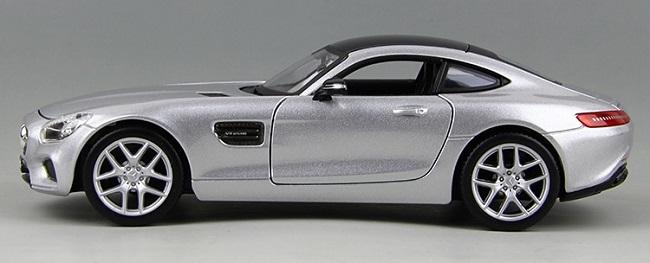 โมเดลรถ โมเดลรถยนต์ โมเดลรถเหล็ก amg gt silver 5