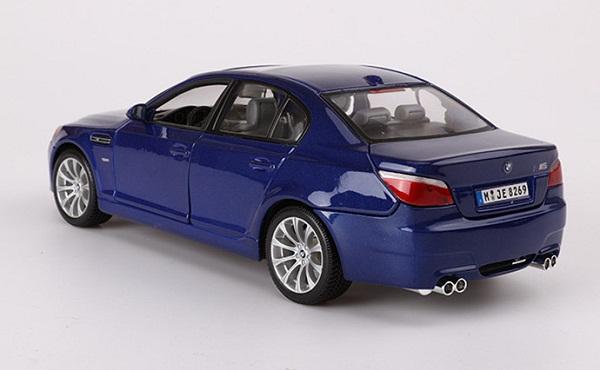 โมเดลรถ โมเดลรถเหล็ก โมเดลรถยนต์ BMW M5 blue 4