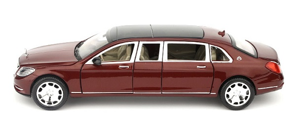 โมเดลรถเหล็ก โมเดลรถ Benz S600 red 3