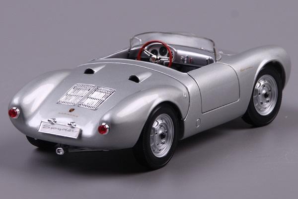 โมเดลรถ โมเดลรถเหล็ก โมเดลรถยนต์ Porsche 550A Spyder silver 4
