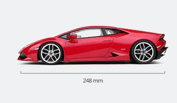 โมเดลรถ โมเดลรถเหล็ก โมเดลรถยนต์ Lamborghini Huracan red 5