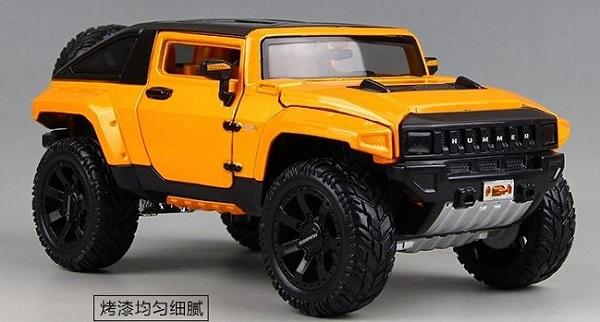 โมเดลรถยนต์ โมเดลรถเหล็ก NEW Modified Hummer HX 2