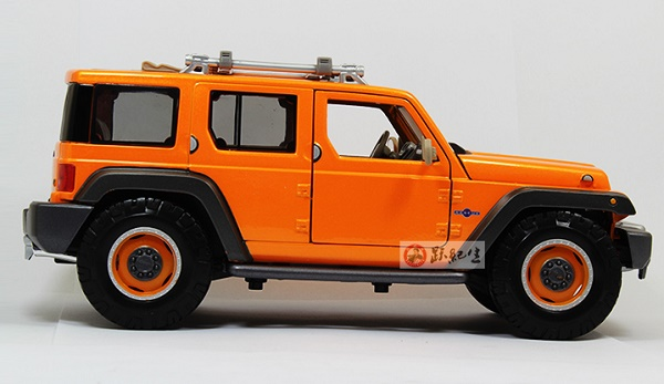 โมเดลรถ โมเดลรถเหล็ก โมเดลรถยนต์ Jeep Wrangler Rescue orange 3