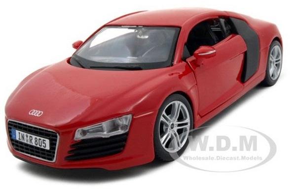 โมเดลรถ โมเดลรถเหล็ก โมเดลรถยนต์ audi r8 red 1