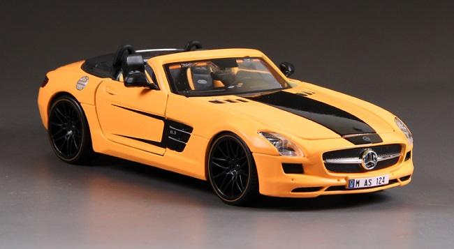 โมเดลรถ โมเดลรถเหล็ก โมเดลรถยนต์ benz sls amg roadster