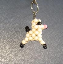 """พวงกุญแจสุนัขพุดเดิ้ล#AB001 ขนาด2"""""""