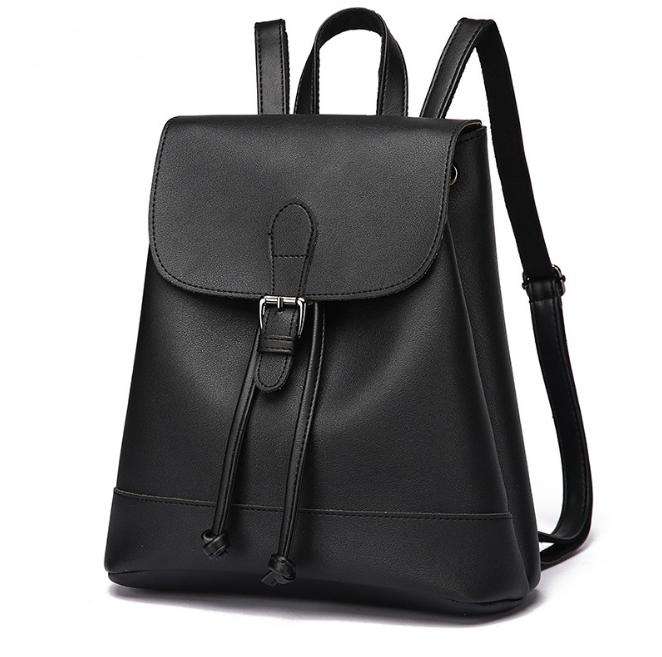 [ Pre-Order ] - กระเป๋าเป้แฟชั่น สไตล์เกาหลี สีดำคลาสสิค ใบกลาง ดีไซน์สวยเก๋เท่ๆ เหมาะสำหรับสาวๆ ที่ชอบเป้เก๋ๆ โดดเด่นไม่ซ้ำใคร