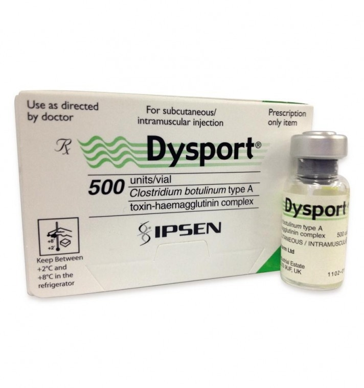 Dysport, ipsen 500U โบท็อก หน้าเล็ก แขนเล็ก ขาเล็ก