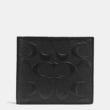 กระเป๋าสตางค์ผู้ชาย COACH COIN WALLET IN SIGNATURE CROSSGRAIN LEATHER F75363 : BLACK