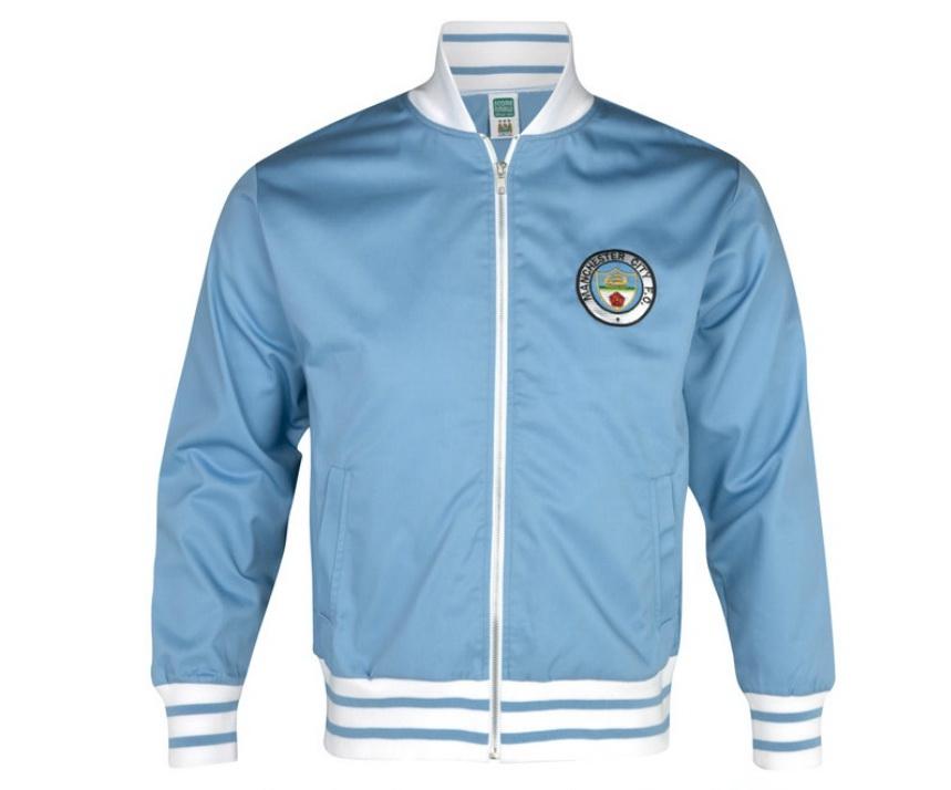 เสื้อ Retro แมนเชสเตอร์ ซิตี้ ของแท้ 100% Manchester City 1972 Home Track Jacket เป็นของฝาก ของสะสม ที่ระลึก ของขวัญแด่คนสำคัญ Size: M L XL XXL