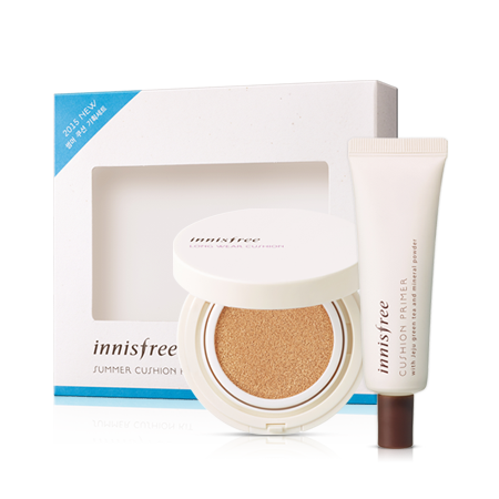 Innisfree Summer cushion kit (Long Wear 25ml + primer cushion cushion 15 g)