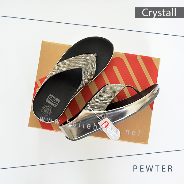 FitFlop : CRYSTALL : Pewter : Size US 8 / EU 39