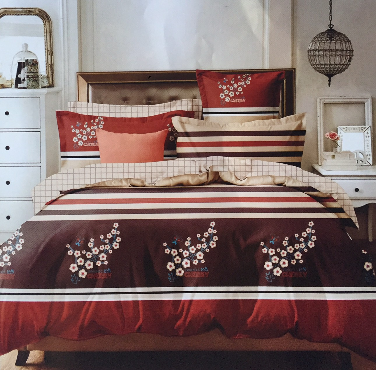 ชุดผ้าปูที่นอน ลายคลาสสิค ขนาด 6 ฟุต 6 ชิ้น (ส่งฟรี)