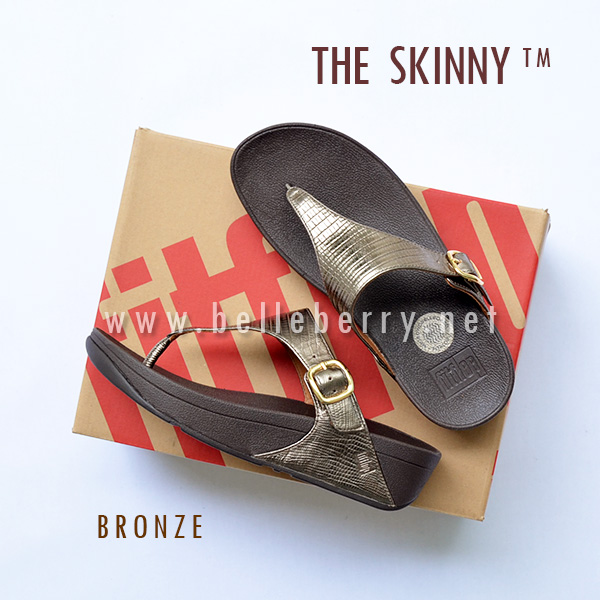 รองเท้า FitFlop The Skinny : Bronze : Size US 5 / EU 36