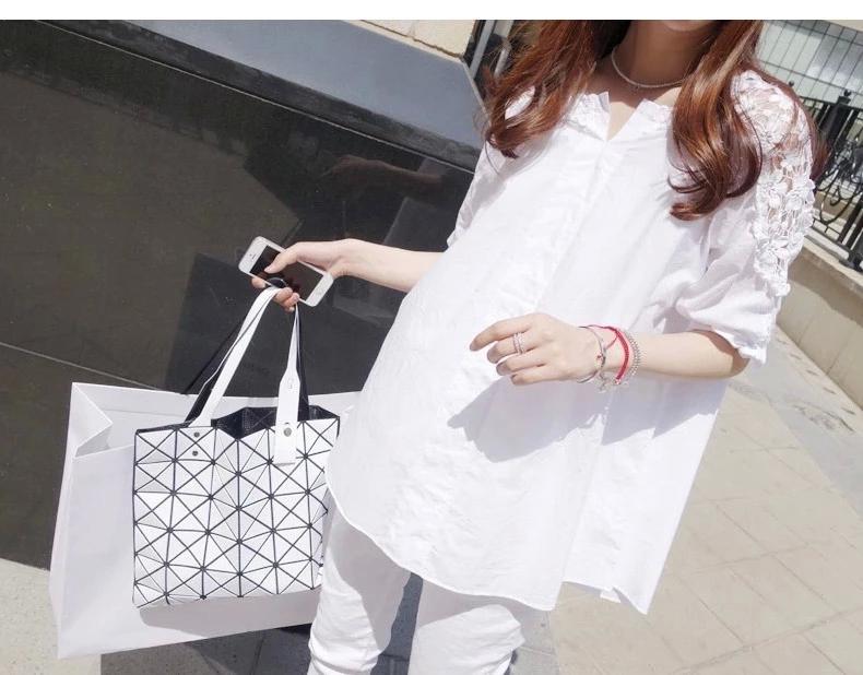 เสื้อเชิ้ตแขนยาวสีขาว ช่วงไหล่-แขนลายโครเชต์ (M,L,XL,2XL,3XL,4XL,5XL) 1043-1004