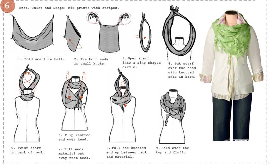 วิธีผูกผ้าพันคอ6