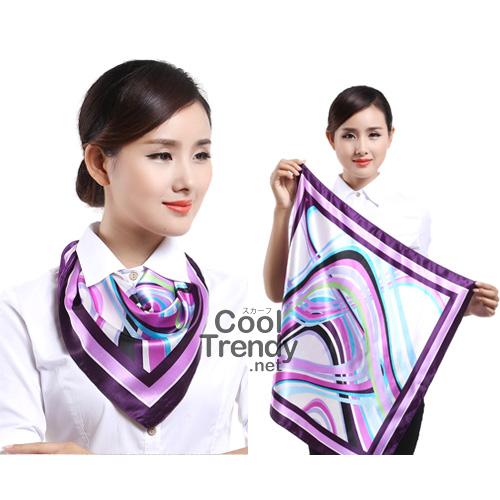 ผ้าพันคอจัตุรัส ผ้าพันคอ uniform รหัส S32 - size 60 x 60 cm
