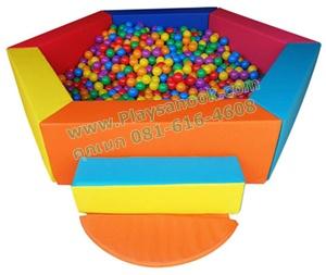 EVB-04-2 บ่อบอลหกเหลี่ยม พร้อมลูกบอล 1000 ลูก