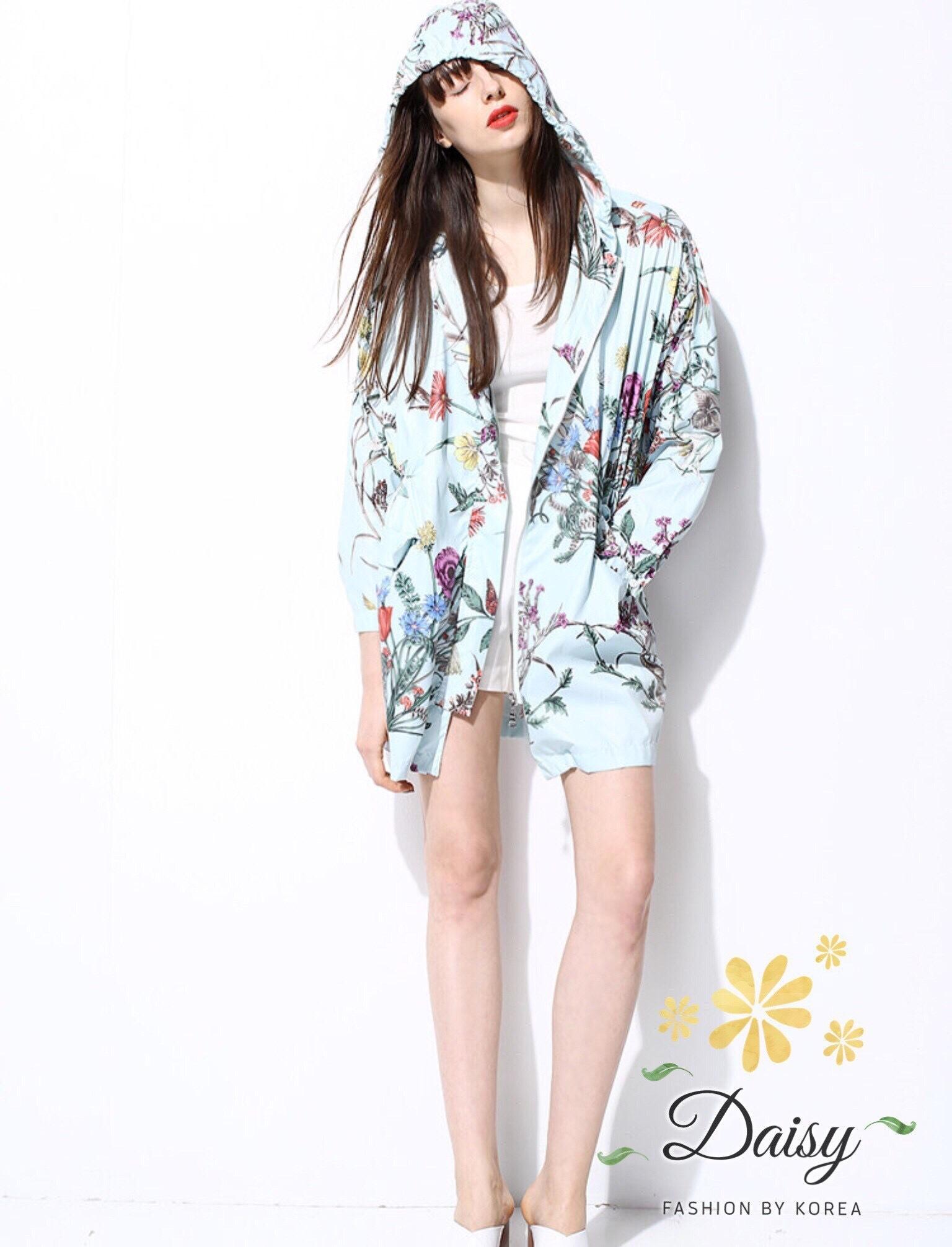 เสื้อผ้าเกาหลี พร้อมส่งGucci เสื้อพิมพ์ลายดอกไม้ผ้าพริ้วๆ