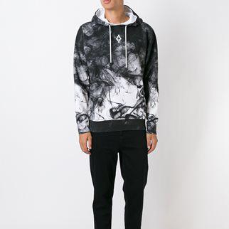 เสื้อMarcelo Burlon-Smoke Print Hoodie