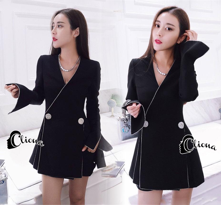 เสื้อผ้าเกาหลี พร้อมส่งCC Luxury Diamond Jacket