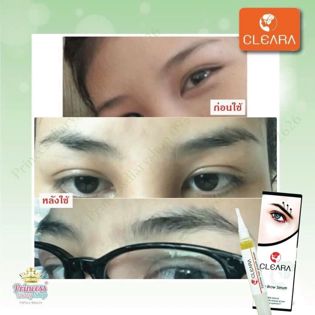 Cleara Eye Brow Serum 5 Ml Strengthens The Eyebrows Thicker Darker