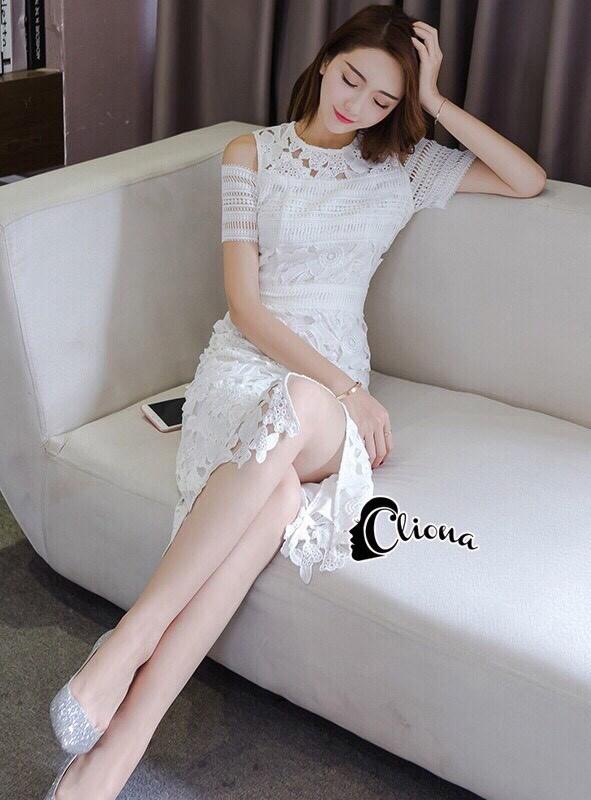 Sandra Snow Whitte Luxury Lace Dress