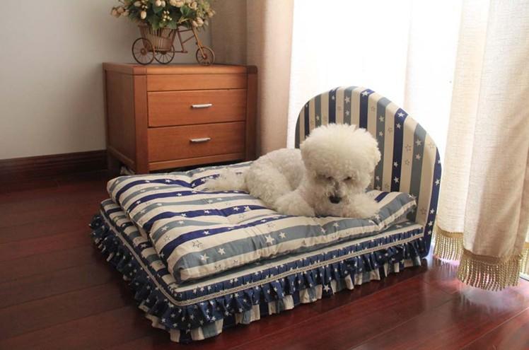 เตียงนอนสัตว์เลี้ยงฟองน้ำ ผ้าฝ้าย มีทั้งขนาดเล็กจนถึงใหญ่ น้องโกลเด้นท์นอนได้สบายค่ะ