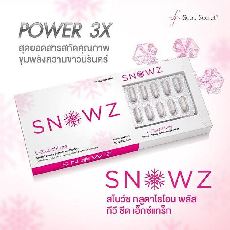 Snowz Gluta By Seoul Secret สโนว์ กลูต้าไธโอน บาย โซลซีเครท อาหารเสริมผิวขาวใส