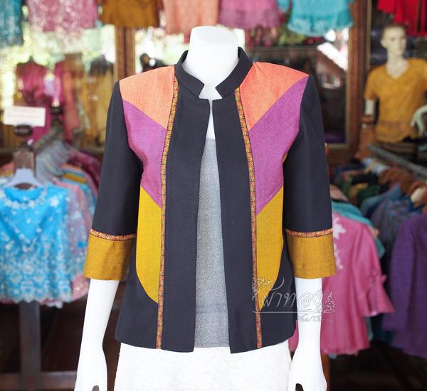 เสื้อคลุมผ้าฝ้ายสุโขทัยคอจีน ไซส์ M