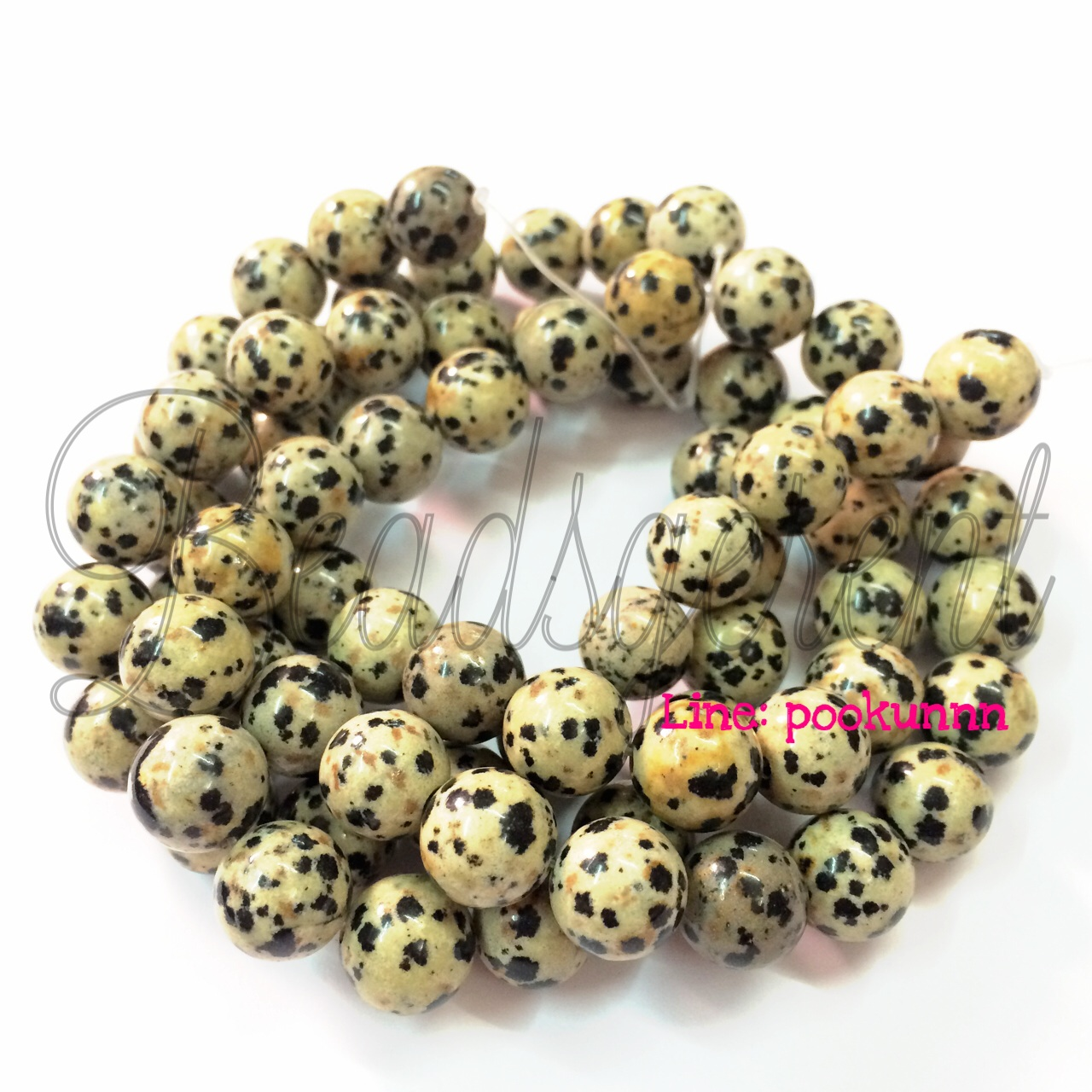 หิน Dalmatian Jasper 10มิล (39 เม็ด)