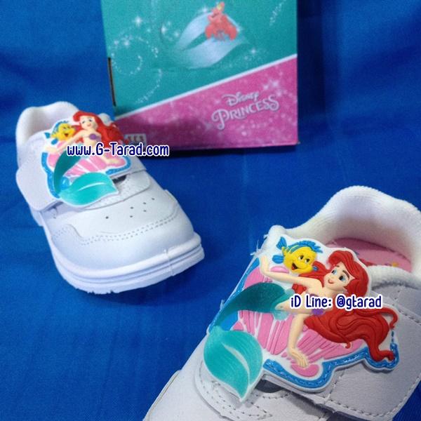 POPteen 555+ - รองเท้าพละขาวหญิง Little Mermaid Ariel no.25-31