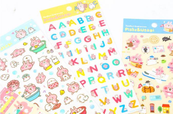 (เซ็ต 4 แผ่น) Kanahei Sticker Set #ACB