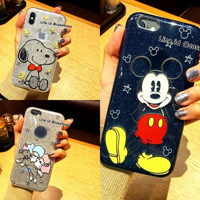 Glitter Cartoon Case iPhone X