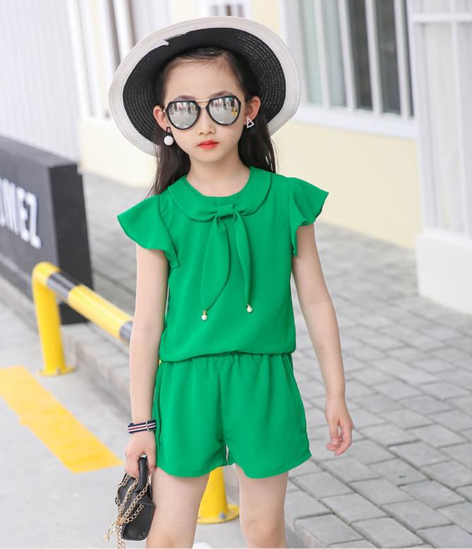 ชุดเซ็ท เสื้อ+กางเกง สีเขียว