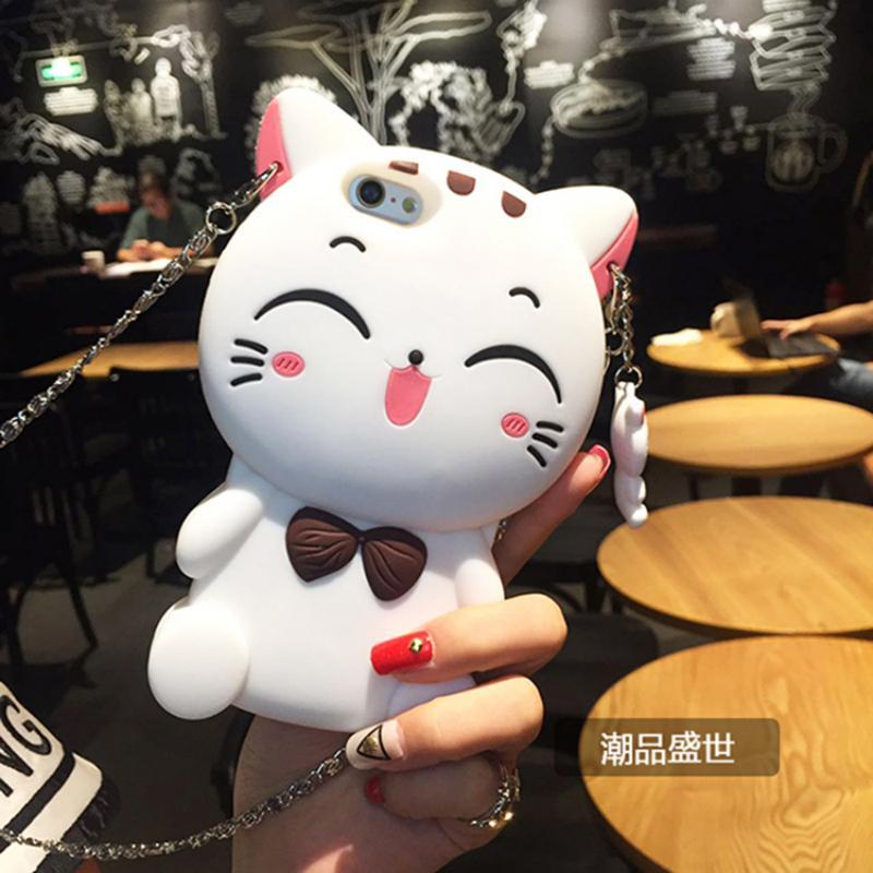 เคสแมวเรียกโชคลาภ (สีขาว) iPhone 5C
