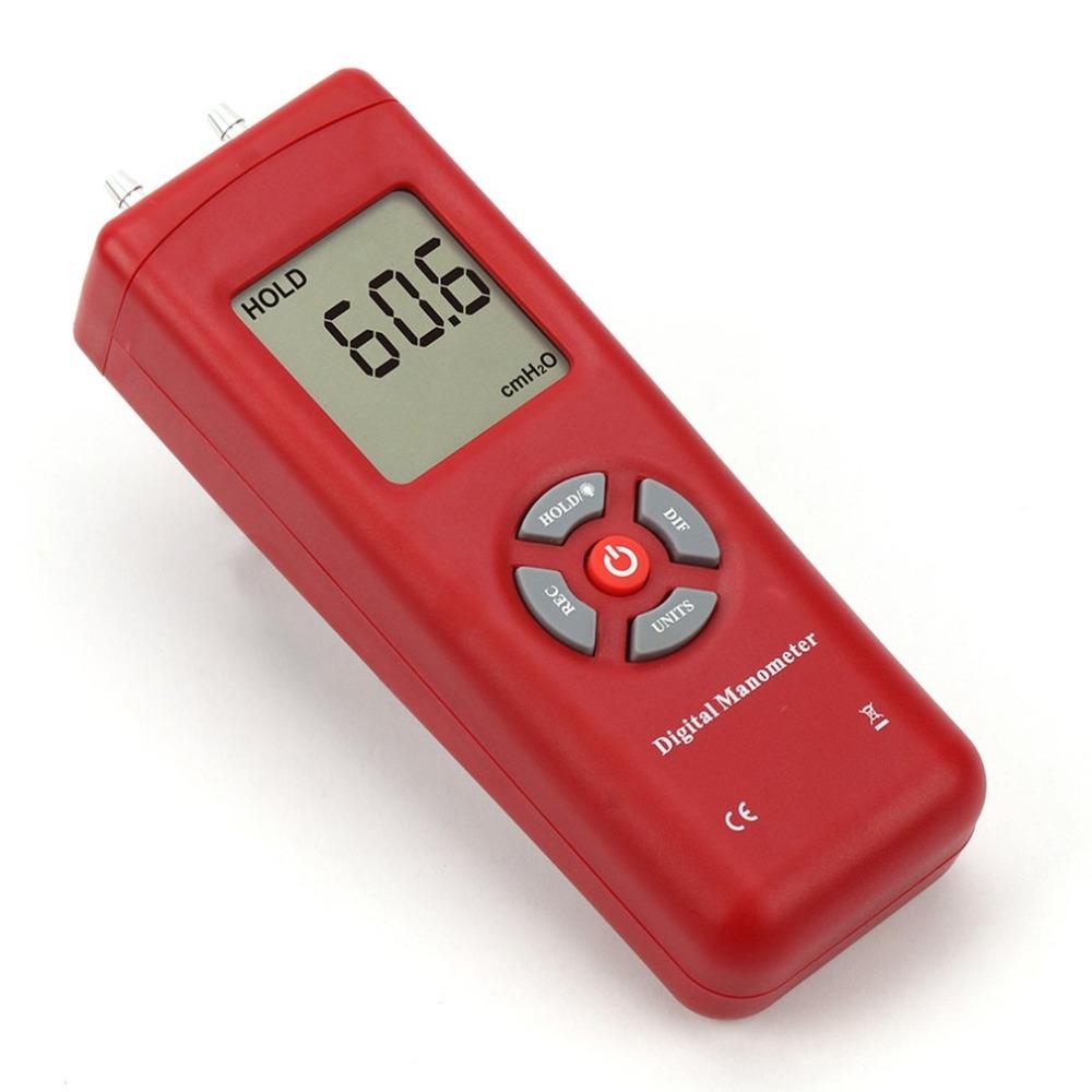 Red TL-100 Digital Manometer Air Pressure Meter Handheld Pressure Gauges Handheld U-type Differential Pressure Meter