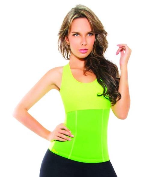 เสื้อโยคะเรียกเหงื่อ Hot Shapers Yoga Shirt - สีเขียว