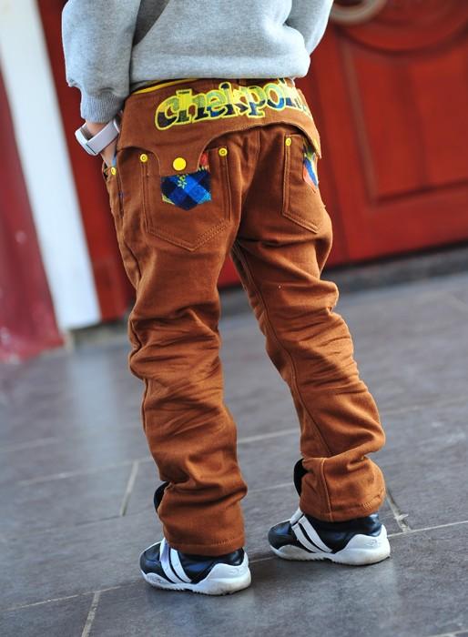 กางเกงยีนส์ Checkpoint สีน้ำตาล
