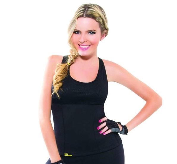 เสื้อโยคะเรียกเหงื่อ Hot Shapers Yoga Shirt - สีดำ