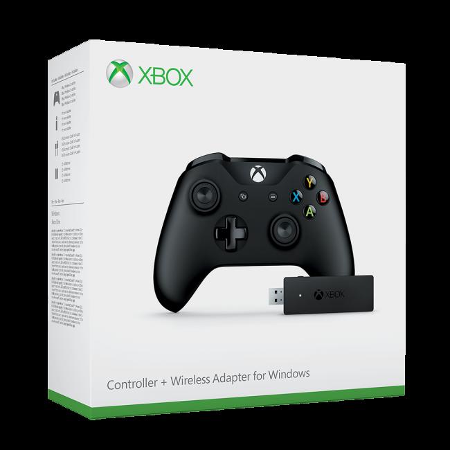 จอย Xbox One S Black Controller + Wireless Adapter (สาย Micro USB) [XBOXONE/PC]