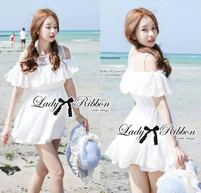 DR-LR-069 Lady Lara Sweet Casual Cotton Lace Mini Dress