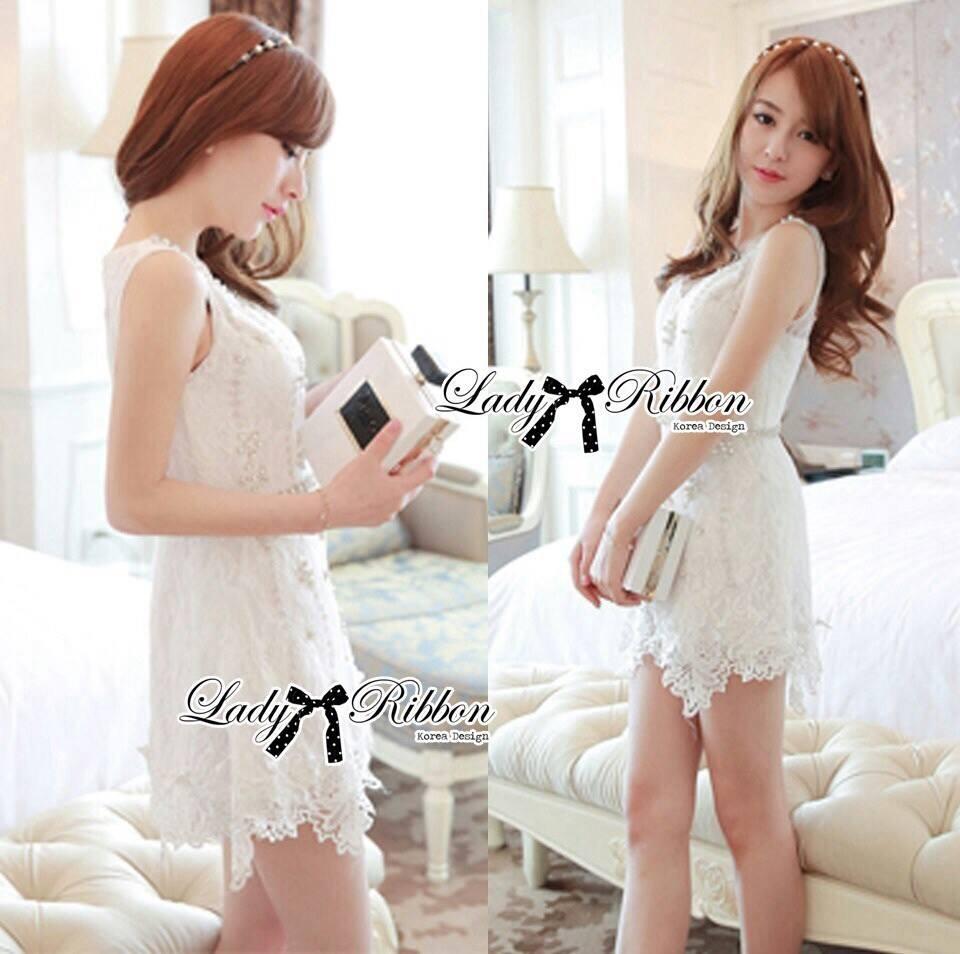 DR-LR-128 Dolce & Gabanna White Lace Playsuit