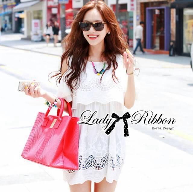 lady Charlotte Little White Lace Off-shoulder Mini Dress L156-49A05